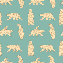 Seamless Pattern With Polygon ...