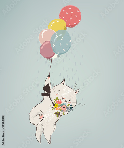 cute-cat-boy-fly-with-balloons-and-flowers