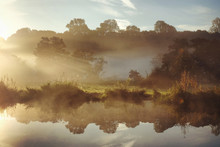 Early Morning Mist Over The Me...