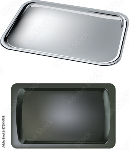 Fotografie, Obraz serving tray for food use and catering service