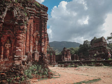 My Son My Son Cham Temple A Cluster Of Abandoned And Partially Ruined Hindu Temples In Quảng Nam Province, Central Vietnam That Is Declared As A World Cultural Heritage By UNESCO
