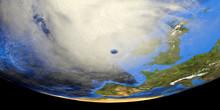 Storm Ellen Over Ireland Shown...