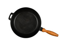 Cast Iron Frying Pan With Wood...