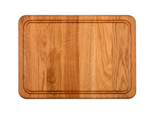 Oak Wood Cutting Board Isolate...