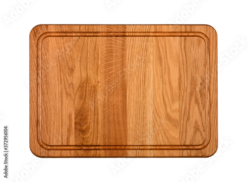 Fényképezés Oak wood cutting board isolated on white
