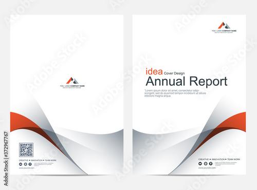 Fototapeta Brochure or flyer layout template, annual report cover design background obraz