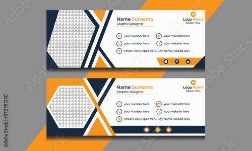 Fototapeta Vector Illustration Of Corporate Email Signature Design.