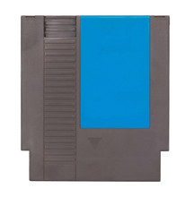 Old NES Cartwidge Blue Label Over White Background, Front View