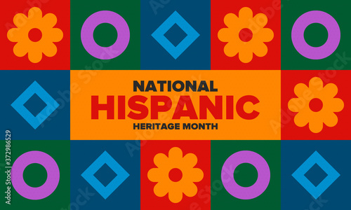 National Hispanic Heritage Month in September and October Fototapet