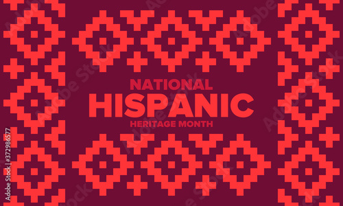 Fotografering National Hispanic Heritage Month in September and October