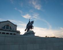 King Louis IX Statue Art Hill Forest Park St. Louis Missouri USA