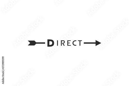 Papel de parede Design of arrow and direct message