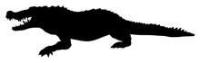 Silhouette Of A Crocodile Vector
