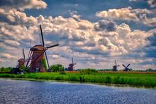 5 Windmills At Kinderdijk