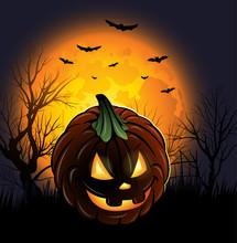 Halloween Jack-o-lantern Pumki...