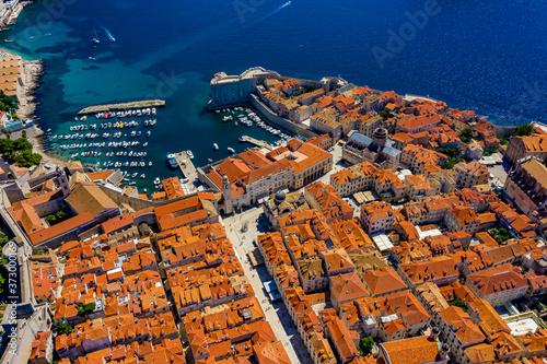 Foto Dubrovnik aus der Luft | Kroatien von oben | Dubrovnik mit der Drohne