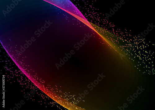 Photo Abstract rainbow flow background