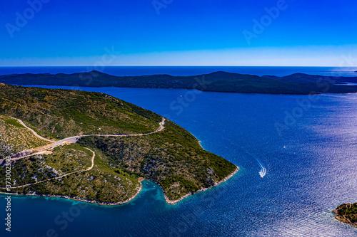 Photo Kroatien aus der Luft    Die Adria aus der Luft