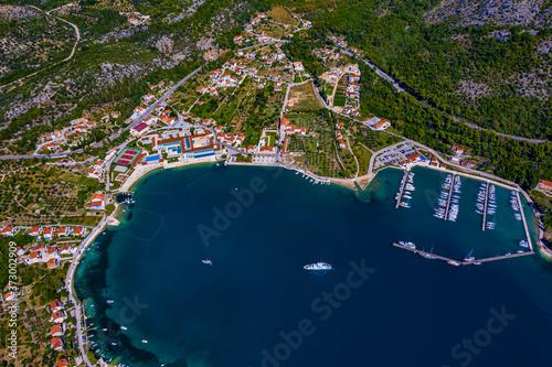 Kroatien aus der Luft    Die Adria aus der Luft Canvas Print
