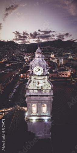 Fototapeta Iglesia Santo Domingo, Centro Historico, Quito Ecuador