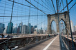 Aspect of the brooklyn bridge and it´s supension cables