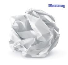 Crumpled Paper Ball. 3d Realis...
