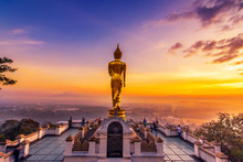 Golden Buddha Statue In Khao N...
