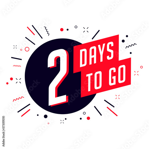 Two days to go. No of days left to go badges. Canvas-taulu