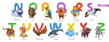 Zoo Alphabet. Funny Animals, 3...