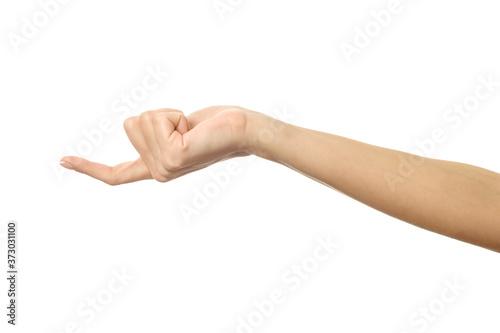 Fototapeta Finger reaching or scratching