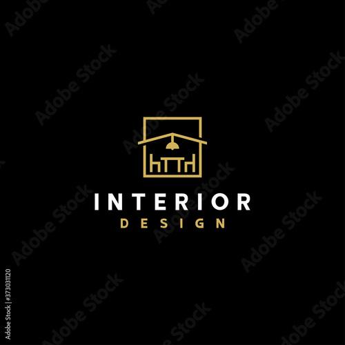 Fototapeta Interior logo design template vector illustration