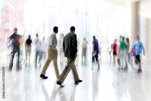 Obraz na plátně group of people in the lobby business center