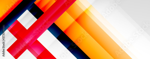 Fotografia Geometric abstract backgrounds with shadow lines, modern forms, rectangles, squares and fluid gradients