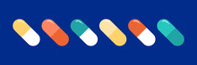 Colorful Pills, Medications, C...