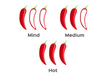 Hot And Spicy Level Of Chilli Peper Vector On White Background