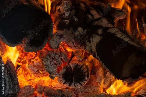Photo Fuego de barbacoa