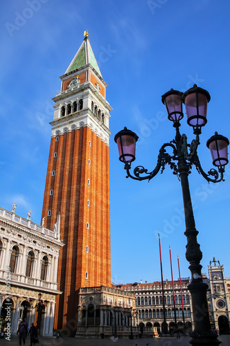 Piazzetta San Marco with St Mark's Campanile in Venice, Italy Canvas Print