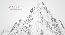 Architecture Line Background. ...