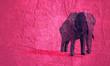 Leinwandbild Motiv Beautiful elephant. Abstract geometric polygon style illustration.