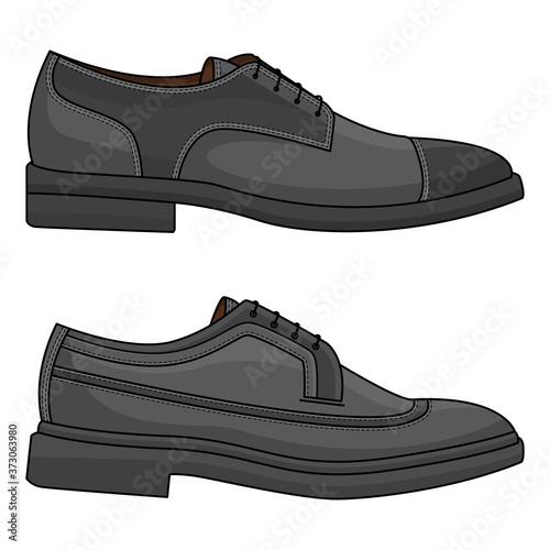 Fototapeta vector of office leather shoes obraz