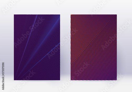 Canvastavla Cover design template set. Abstract lines modern b