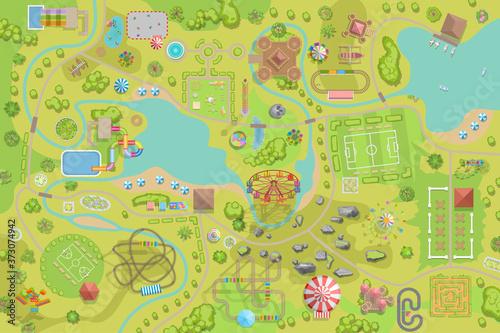 Fotografering Amusement park map