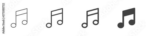Fototapeta Musical notes icons set isolated on white background