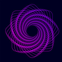 Twisted Colored Spiral. Wirefr...