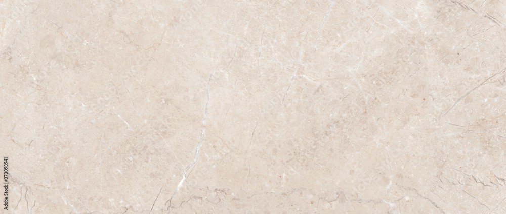 Fototapeta Polished beige marble. Real natural marble stone texture and surface background.