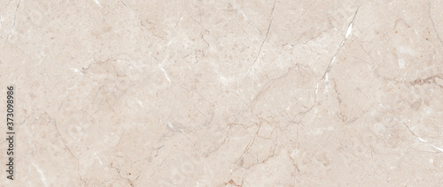Fototapeta Polished beige marble. Real natural marble stone texture and surface background. obraz