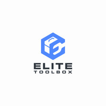 Elite Toolbox Logo Geometric Monogram