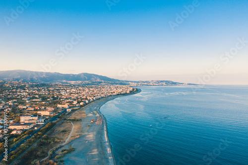 Città di Siderno, aerea Billede på lærred