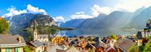 Panorama über Hallstatt Und Den Hallstätter See, Salzkammergut, Österreich