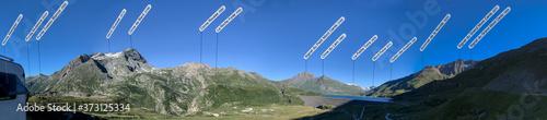 Photo Panorama mit Lac du Mont Cenis, Auvergne-Rhône-Alpes, Frankreich